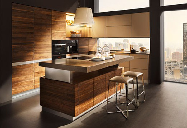 K7 Wood Kitchen Ideas Modern For Open Living Areas  : k7 wood kitchen design ideas from homemydesign.com size 600 x 412 jpeg 178kB