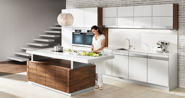 K7 Wood Kitchen Ideas : Modern For Open Living Areas | Home Design ...
