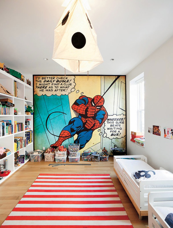 kids bedroom design with spiderman themes - Bedroom Design Kids