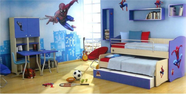 Kids Bedroom With Spiderman Themes