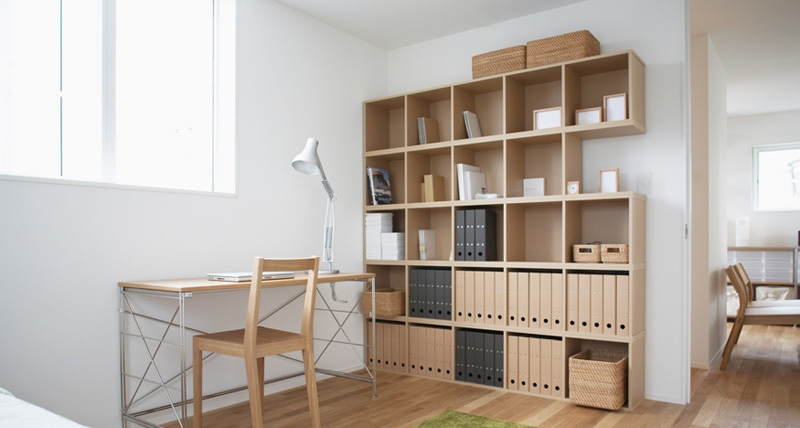 Minimalist japanese home office furniture for Japanese minimalist interior design