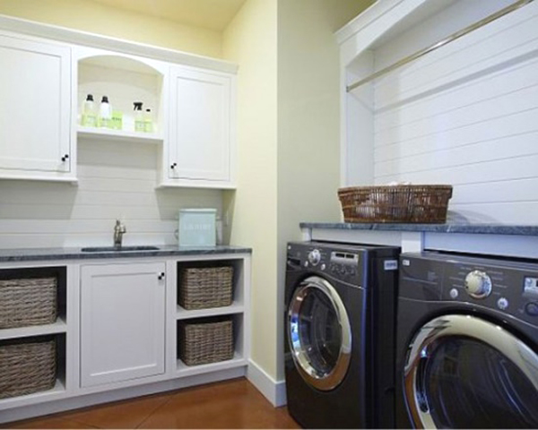 modern laundry room ideas 10 Black and White Laundry Room Design Ideas