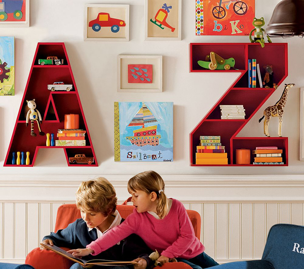 playroom ideas with alphabet storage units 35 Awesome Kids Playroom Ideas