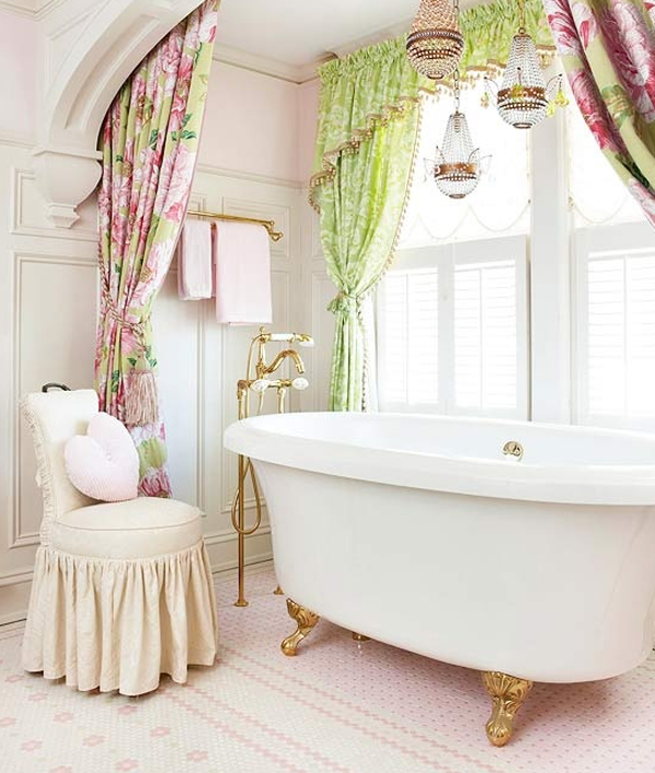 Pretty bathroom ideas is designed for women, aims to pamper them and give  offerings to best enjoy a luxurious bath.