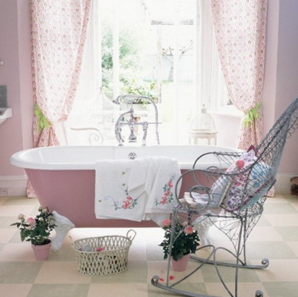 Pretty pink bathroom designs for Pretty bathrooms