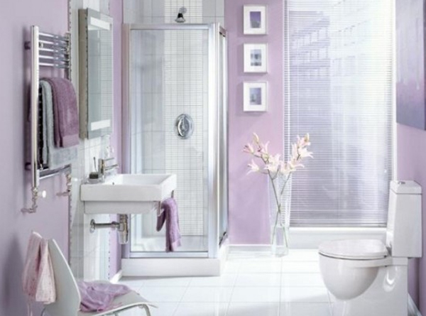 Purple bathroom decorations for Pretty bathroom decorating ideas