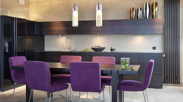 purple-dining-furniture-in-kitchen