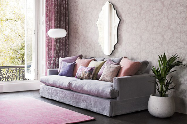 purple-pastel-living-rooms-with-mirror
