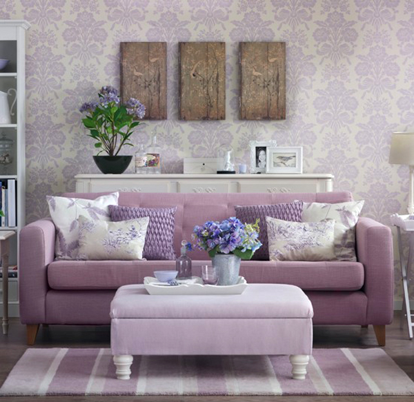 Purple Small Living Rooms 2013