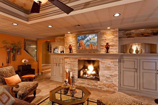rustic-basement-ideas-with-fireplaces