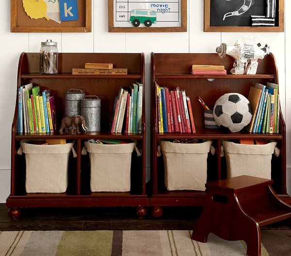 35 Home Storage Ideas Room By Room: Rustic-playroom-storage-ideas