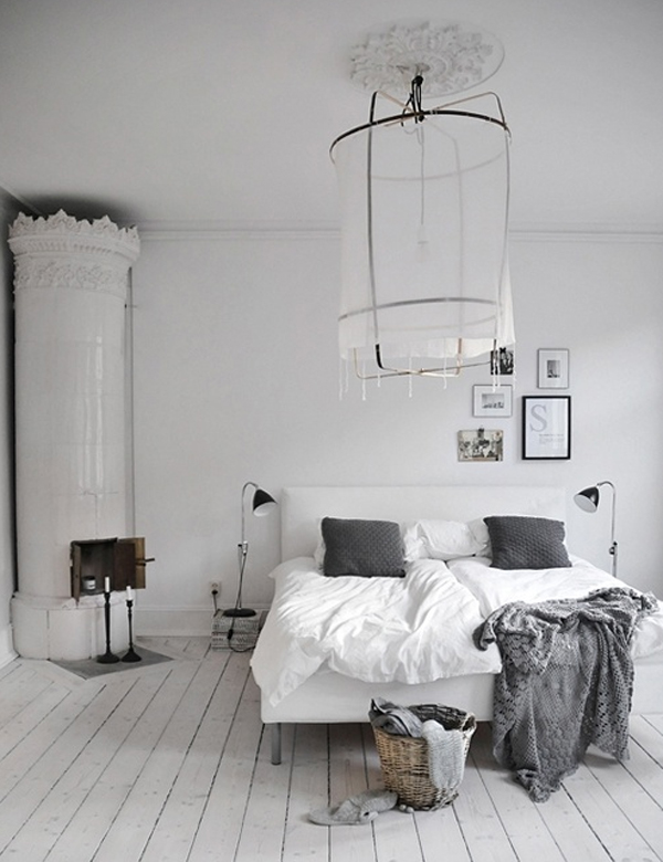 Scandinavian bedroom designs with traditional fireplaces Industrial scandinavian bedroom
