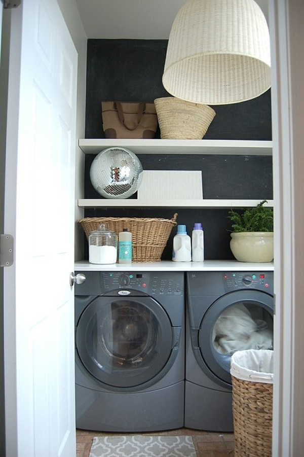 small laundry room cabinets 10 Black and White Laundry Room Design Ideas