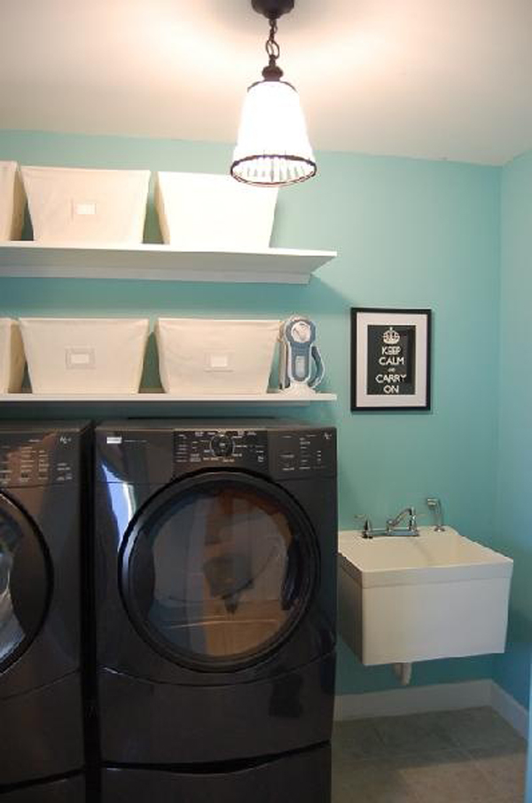 small laundry room design 10 Black and White Laundry Room Design Ideas