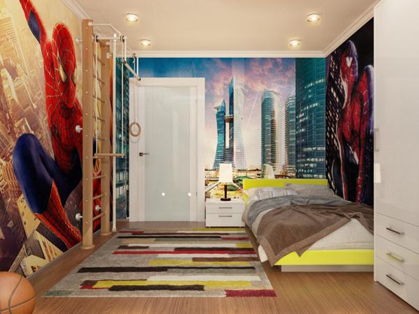 spiderman-bedroom-wallpaper