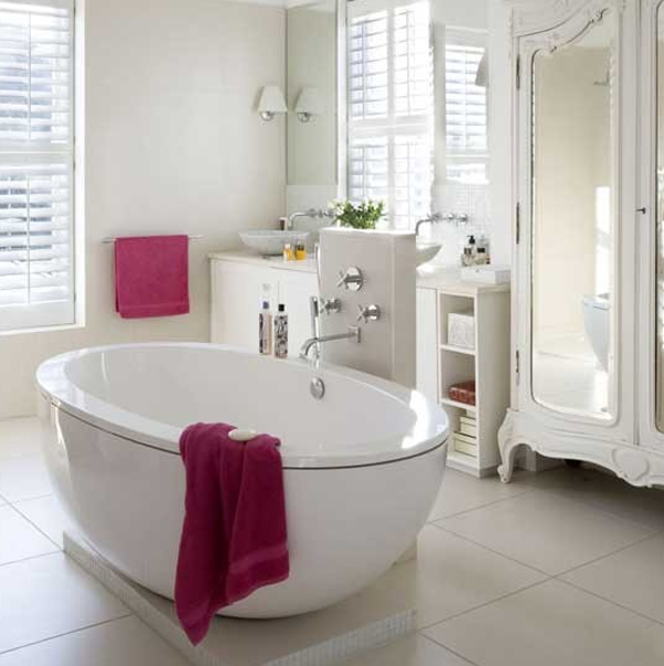 white bathroom decor for women