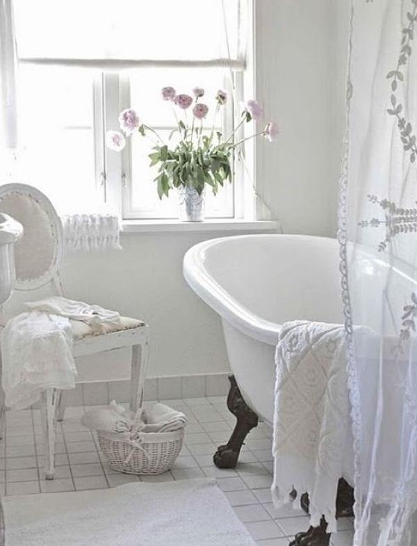 White bathroom decor for Pretty bathroom sets