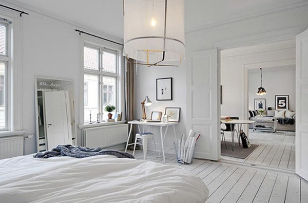 White Scandinavian Bedroom Furniture