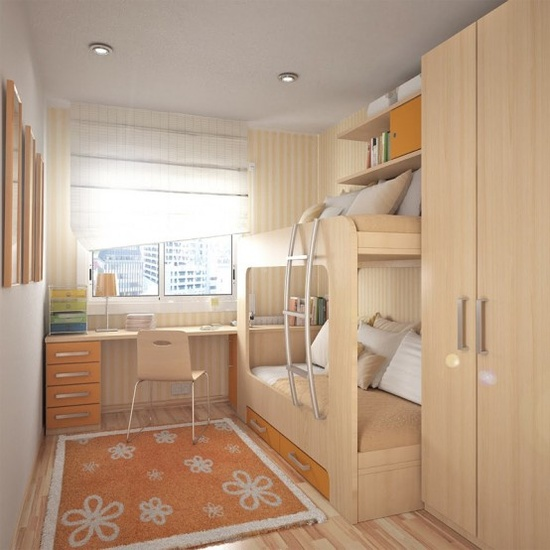 Wood Teen Bedroom Design