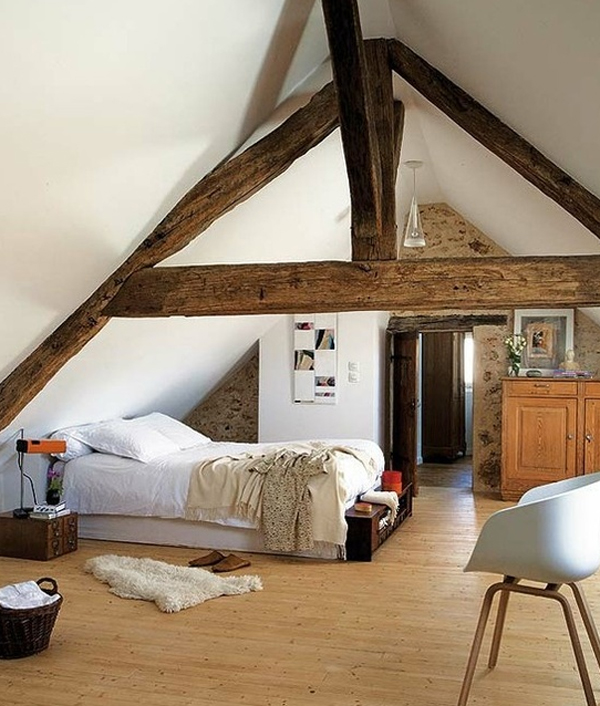 25 inspirational attic room design ideas home design and for Attic bedroom decoration