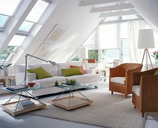 Attic living room designs for Attic room decoration