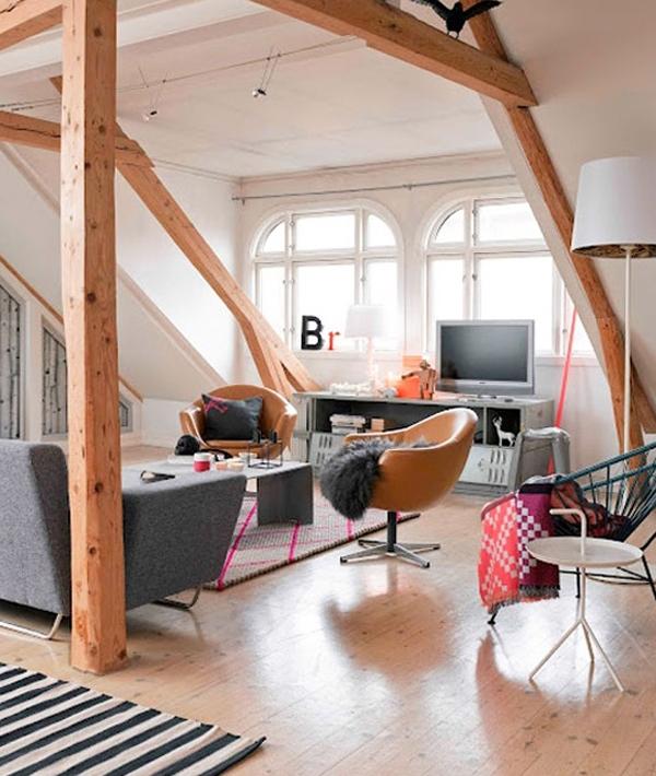 The Best Idea For Attic Bedroom Ideas: Attic-living-room-ideas