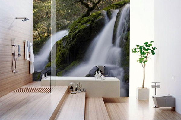 Bathroom wallpapers interior design for Bathroom interior design wallpaper