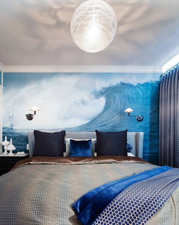 blue masculine bedroom design Cool And Masculine Bedroom Ideas