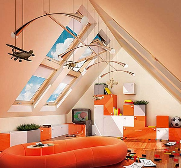 Decorating Attic Rooms colorful-attic-room-decorations