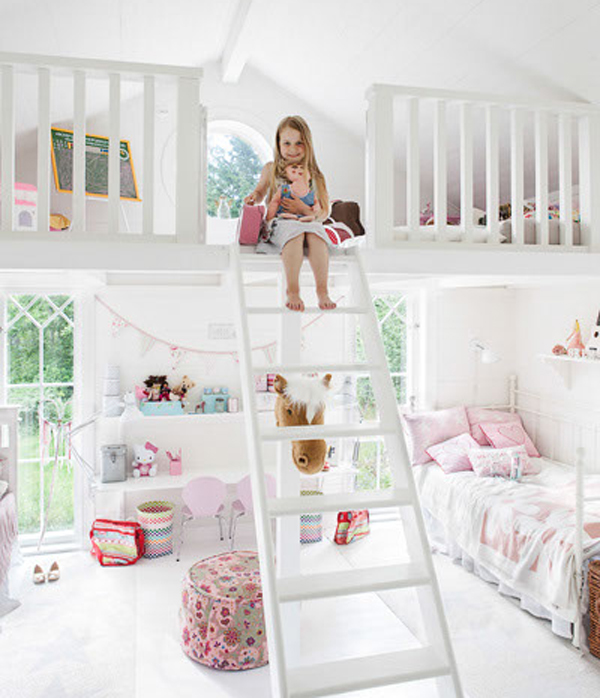 cute-bedrooms-for-two-little-girl | HomeMydesign