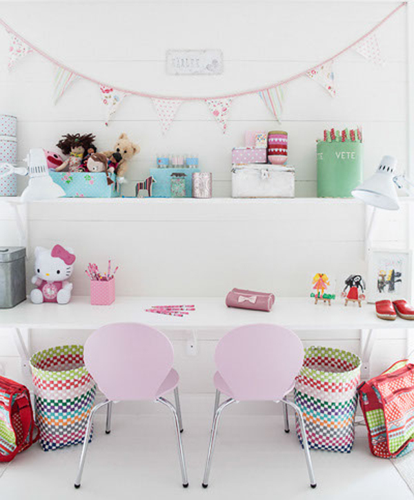 Little Kids Study Room Ideas: Cute Bedrooms For Two Little Girl's