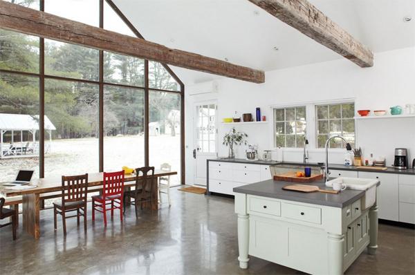 floating farmhouse kitchen