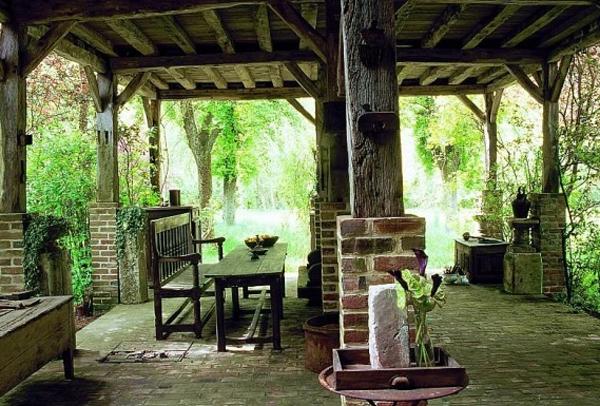 French Outdoor Backyard