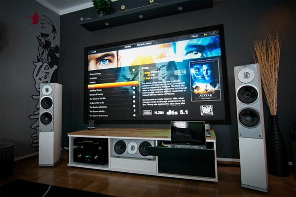 Coolest Home Entertainment With Sound System And Spectacular Multimedia  Display Back Will Surprise You. No Kidding Because This Time The Whole Room  Ideas ... Part 79