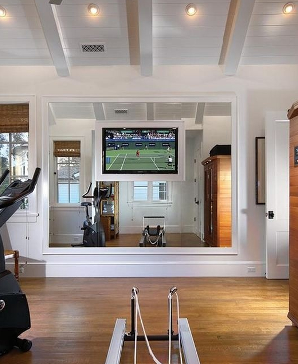 Home Gym Design Ideas: Home-gym-equipment-with-tv-furniture