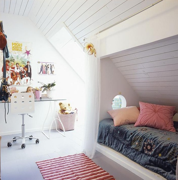 Kid attic room design ideas for Cool attic room ideas
