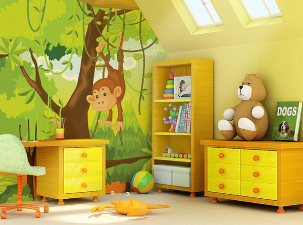 Kids wallpapers interior design for Wallpapers designs for home interiors
