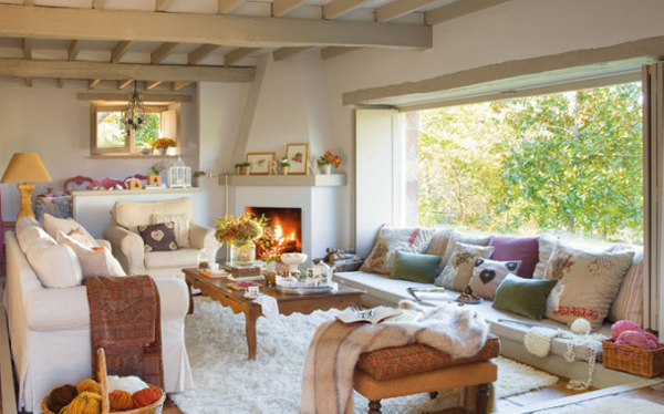 Living Rooms With Fireplaces In Spanish