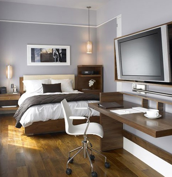 Masculinebedroomwithofficedesign - Bedroom office design