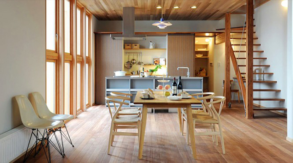 Modern Japanese Kitchen With Dinners