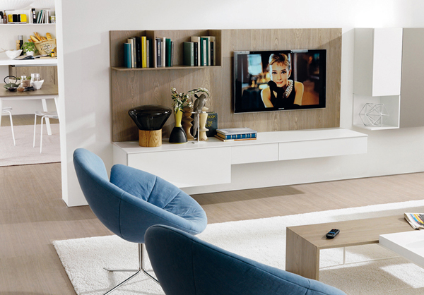 modern living room with tv stands