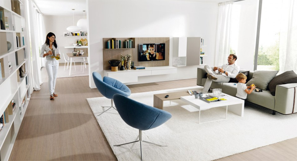 Simple And Modern Living Room Design For Young Family | Home Design ...