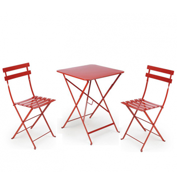 Top 10 Bistro Sets For Outdoor Small Space Home Design  : red bistro table sets from homemydesign.com size 600 x 583 jpeg 156kB