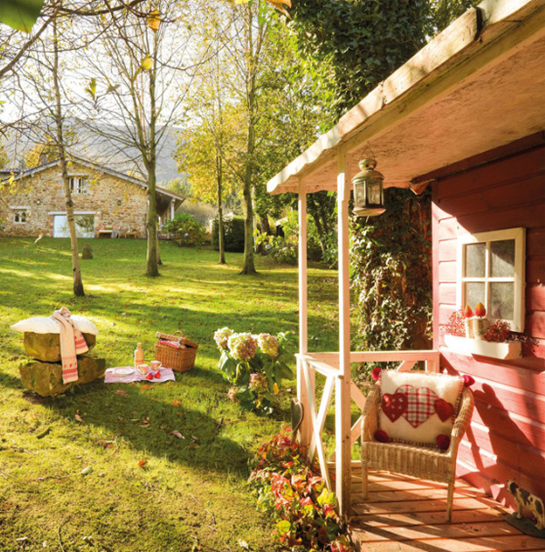 Magnificent Rustic Small House With Beautiful Garden In Spanish Home Design Largest Home Design Picture Inspirations Pitcheantrous