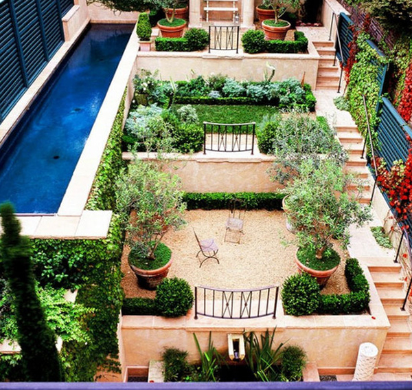 Small garden pools for Pool with garden