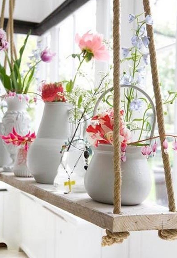 Window flower decorations for Floral decorations for home