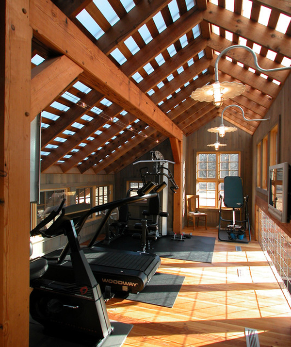Wood home gym decor ideas for Best home gym design ideas