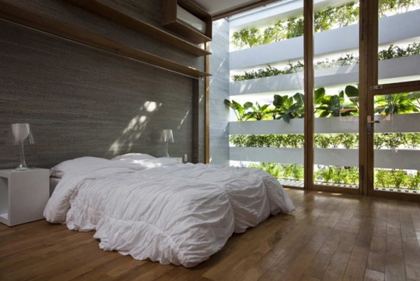 Bedroom Design With Vertical Wall Garden. Garden Bedroom   josael com