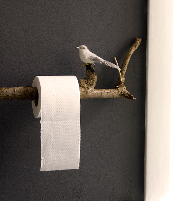 Bathroom Appliances Can Also Use Wood Branch For Accessories, You Can Add  The Bird Ornaments To Give An Impression Of Nature. To Place A Tissue Or  Towel ...