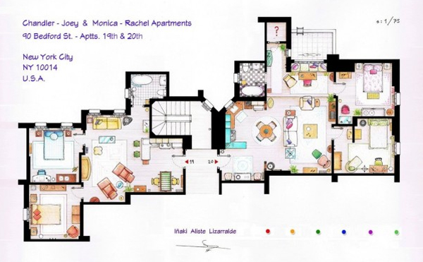 12 floor plans of apartment from famous tv shows home Home architecture tv show